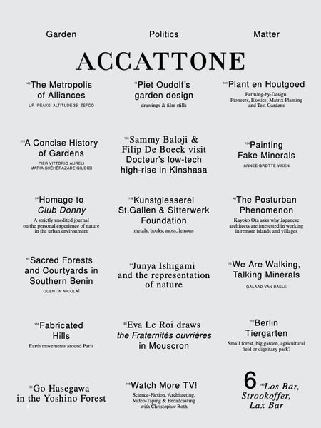 Accattone Magazine. On Architecture Issue 6