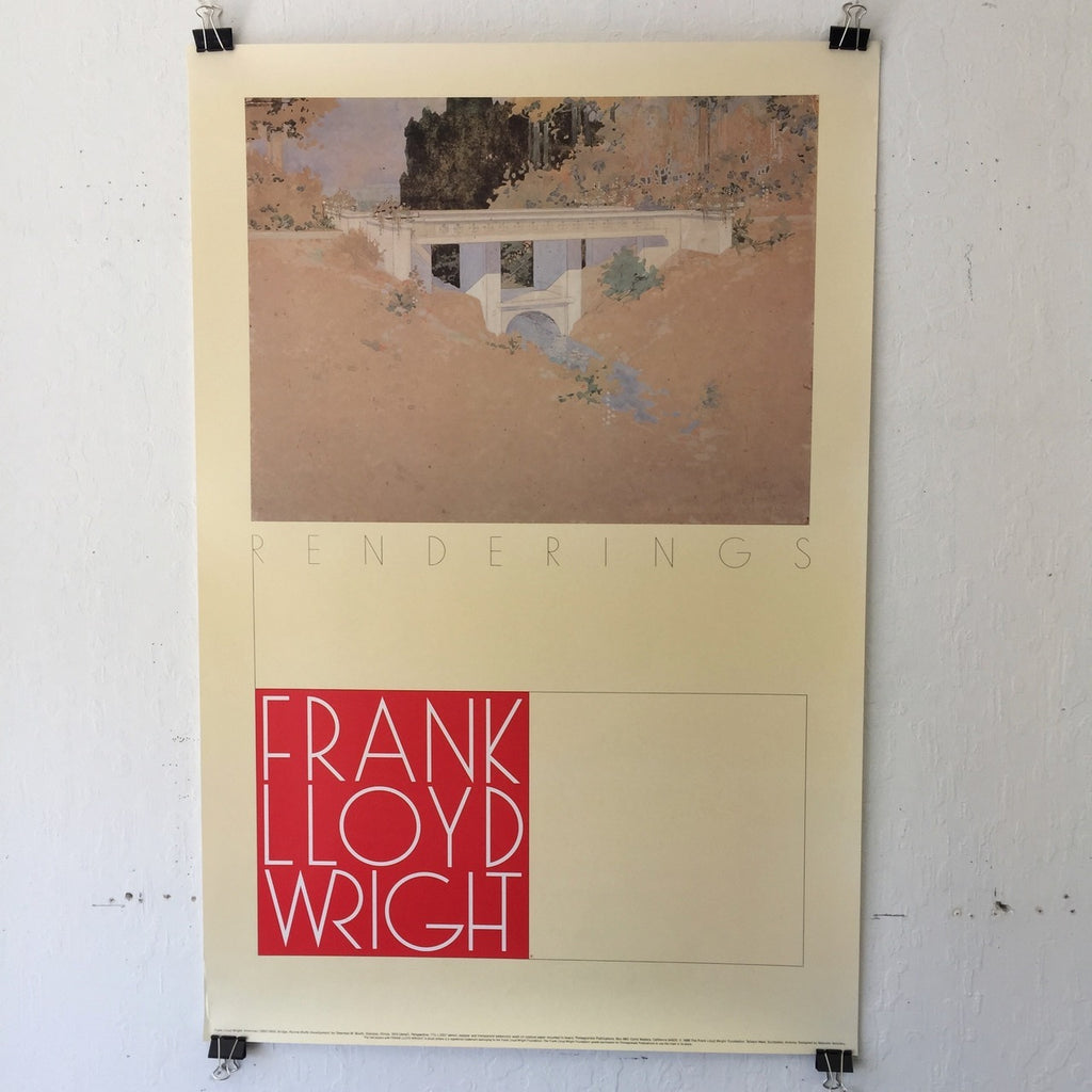 Frank Lloyd Wright - Bridge, Ravine Bluffs Development (Poster)