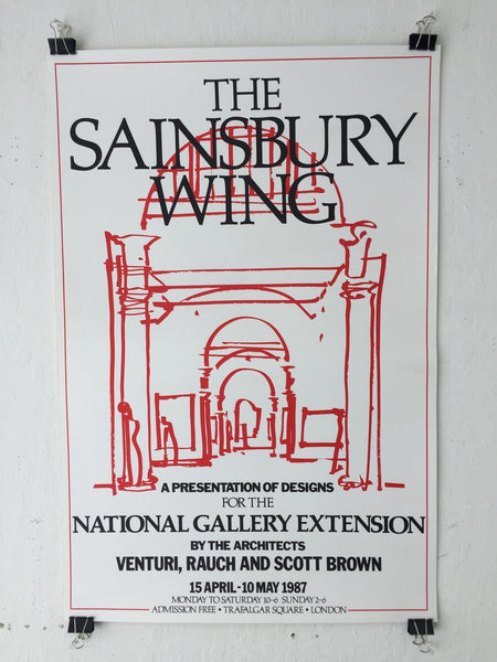 Venturi, Rauch, Scott Brown - The Sainsbury Wing - National Gallery Extension (Poster)