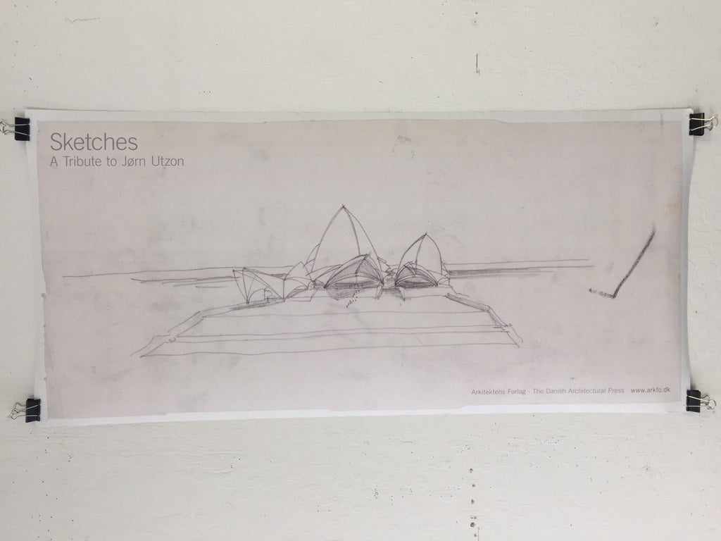 Jorn Utzon - Sketches - A Tribute To Jorn Utzon (Poster)