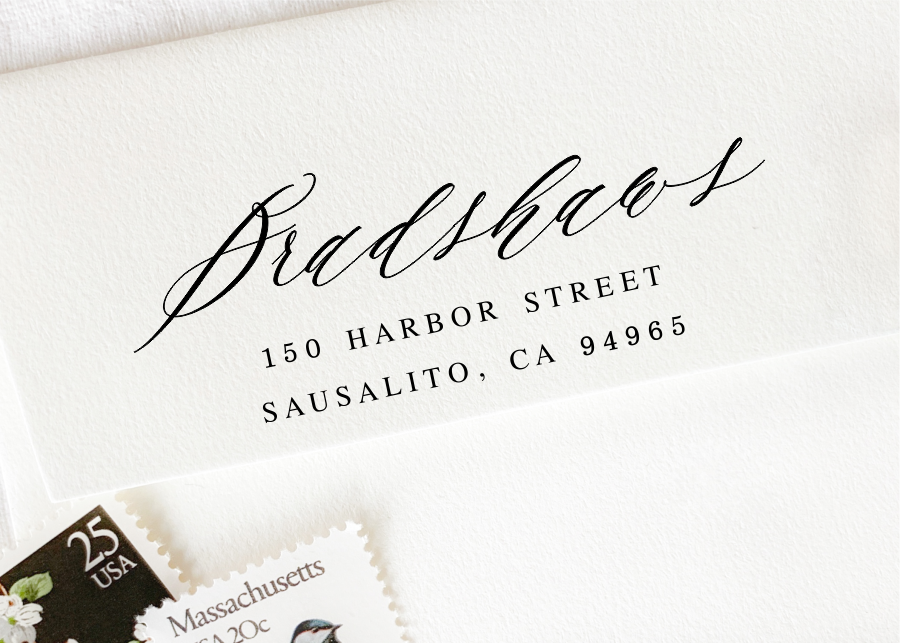 custom pre-inked return address stamp