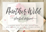 Another Wild Hand Lettered Brush Calligraphy Font - Slanted Version-wedding invitation font-Ink Me This