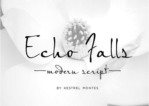 Echo Falls Modern Brush Calligraphy Font-wedding invitation font-Ink Me This