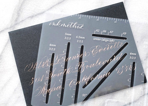 Envelope Calligraphy Ruler-calligraphy supply-Ink Me This