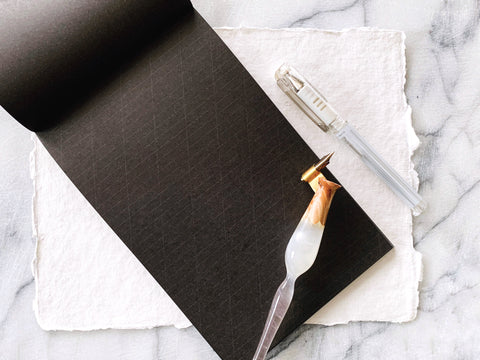 Black Calligraphy Paper Pad-calligraphy supply-Ink Me This