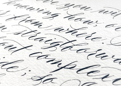 Commissioned Calligraphy Reservation: Glow Events, Kehoe Hoffman-Ink Me This
