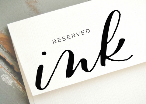 Reserved for P&IA-handmade calligraphy pen-Ink Me This