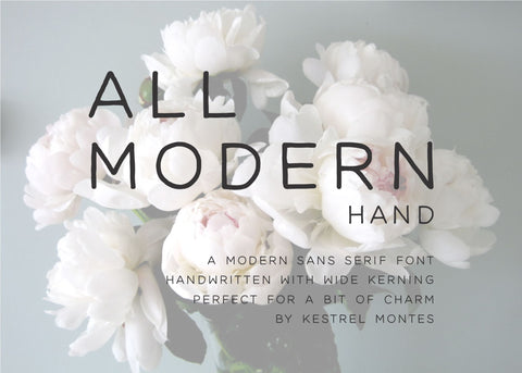 All Modern Hand-wedding invitation font-Ink Me This