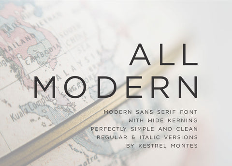 All Modern San Serif Font-wedding invitation font-Ink Me This