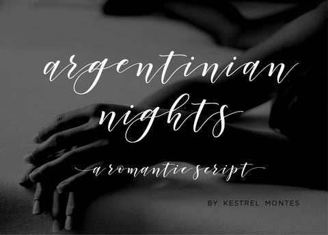 Argentinian Nights Modern Calligraphy Font-wedding invitation font-Ink Me This