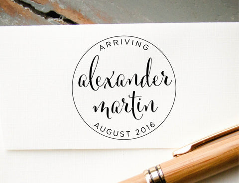 Baby Announcement Stamp #001-custom self-inking stamp-Ink Me This