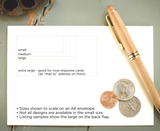 Pre-inked Return Address Stamp #033-custom stamp-Ink Me This