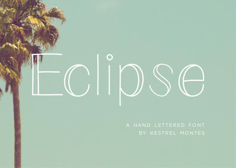 Eclipse San Serif Font-wedding invitation font-Ink Me This