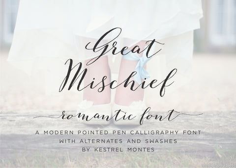 Great Mischief Calligraphy Font-wedding invitation font-Ink Me This
