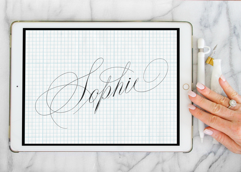 Procreate Brush: Sophie-wedding invitation font-Ink Me This