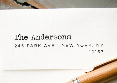 Pre-inked Return Address Stamp #100-custom stamp-Ink Me This