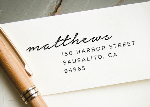 Pre-inked Return Address Stamp #102-custom stamp-Ink Me This