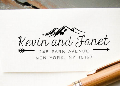 Self-inking Return Address Stamp #015-custom stamp-Ink Me This