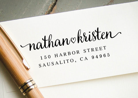 Pre-inked Return Address Stamp #020-custom stamp-Ink Me This