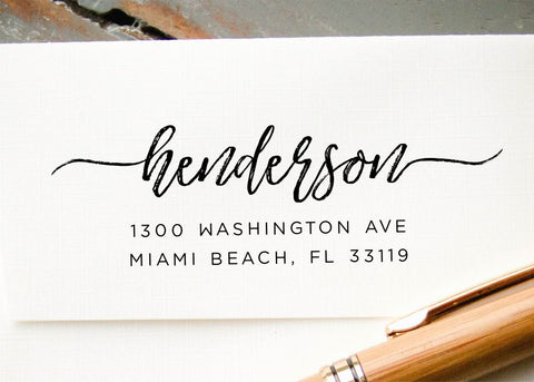 Pre-inked Return Address Stamp #025-custom stamp-Ink Me This