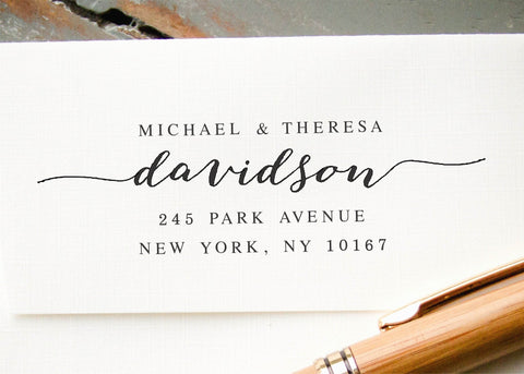 Pre-inked Return Address Stamp #037-custom stamp-Ink Me This