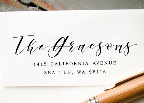 Pre-inked Return Address Stamp #039-custom stamp-Ink Me This