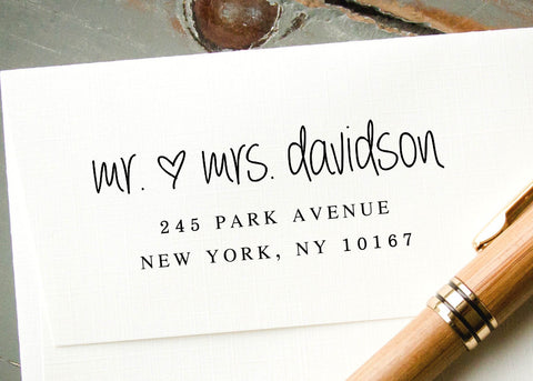 Pre-inked Return Address Stamp #040-custom stamp-Ink Me This