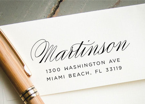 Pre-inked Return Address Stamp #055-custom stamp-Ink Me This