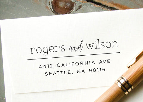 Pre-inked Return Address Stamp #005-custom stamp-Ink Me This