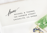 Pre-inked Return Address Stamp #814-custom stamp-Ink Me This
