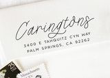 Pre-inked Return Address Stamp #848-custom stamp-Ink Me This