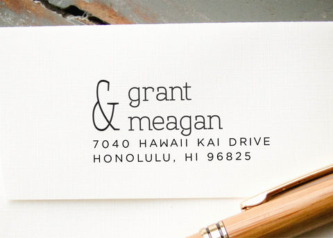 Pre-inked Return Address Stamp #009-custom stamp-Ink Me This