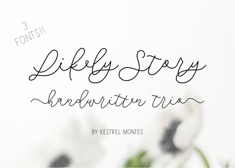 Likely Story Font Trio-wedding invitation font-Ink Me This