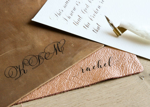 Personalized Leather Blotter: Tobacco-Ink Me This
