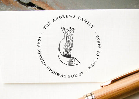 Round Address Stamp #026-custom self-inking stamp-Ink Me This