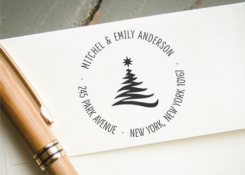 Round Address Stamp #088-custom self-inking stamp-Ink Me This
