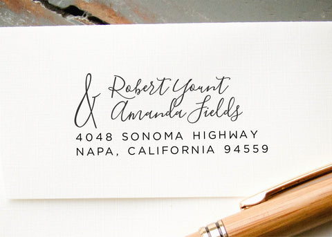 Pre-inked Return Address Stamp #019-custom stamp-Ink Me This