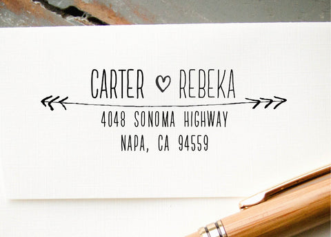 Pre-inked Return Address Stamp #034-custom stamp-Ink Me This