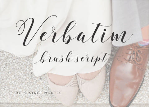 Calligraphy Font Verbatim-wedding invitation font-Ink Me This