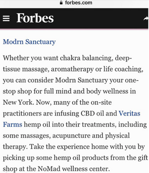 Forbes Feature - Spas Take Treatments To New Highs With Cannabinoid Oil