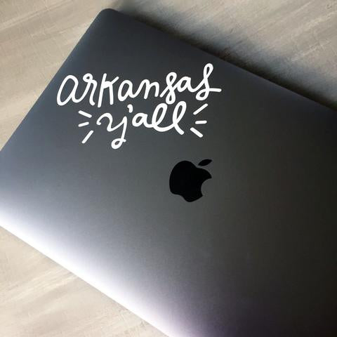 Arkansas Y'all Decal