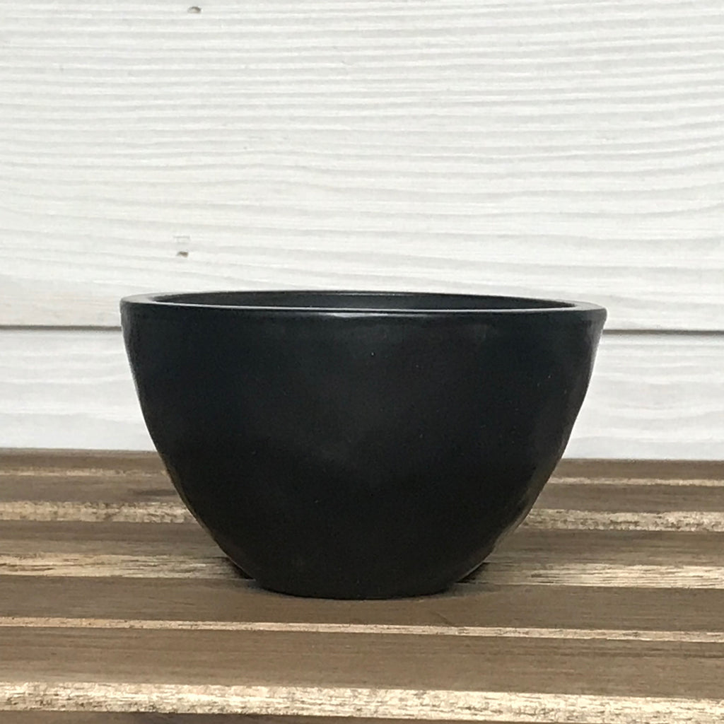 Hello Mint (Peppermint, Eucalyptus & Vanilla) Candle in Small Ceramic Bowl -- Black