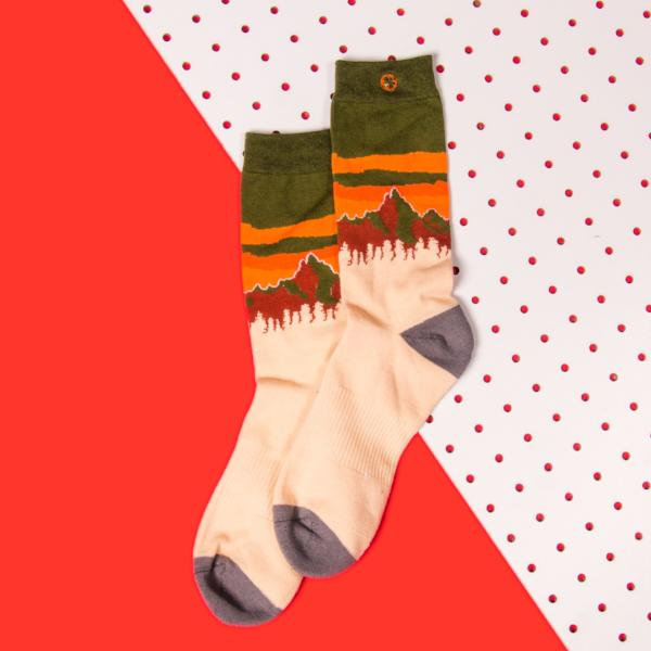 Arkansocks (Pinnacle View -- Green/Orange)