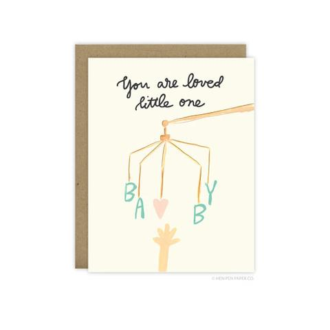 Loved Little One- Baby Greeting Card