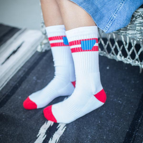 Arkansocks (The Tailgater Varsity Red/Cyan)