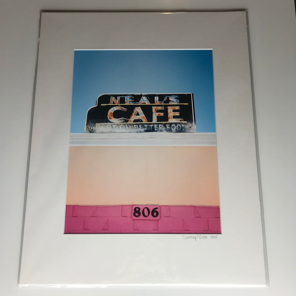 Whitney Scott Photography Neal's Pink/Blue Matted Print (11x14)