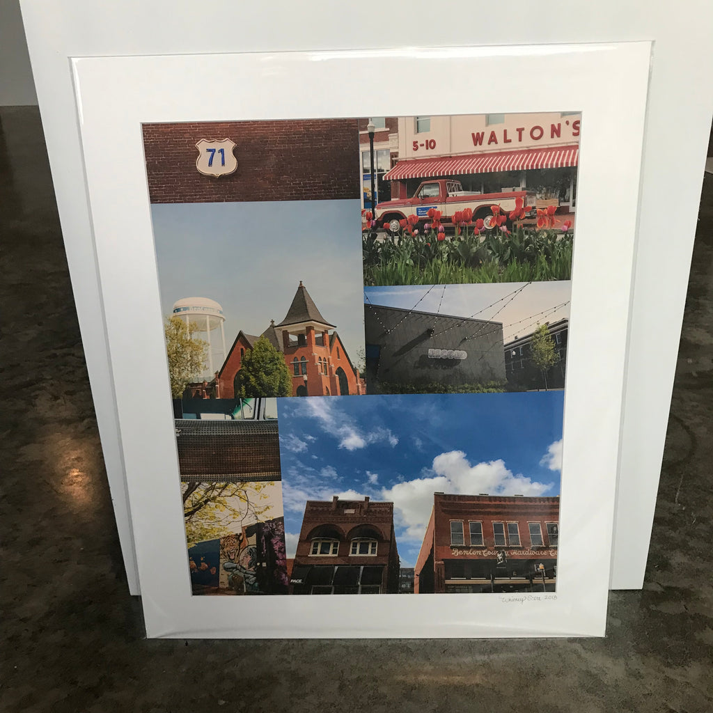 Whitney Scott Photography Bentonville Matted Collage Print (20x24)