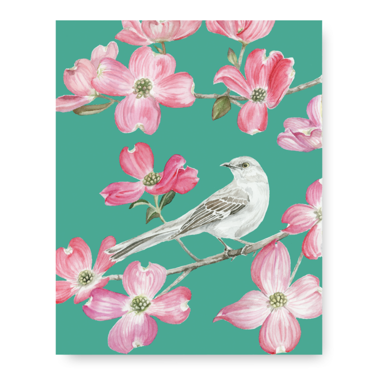 Bird & Bloom Greeting Card