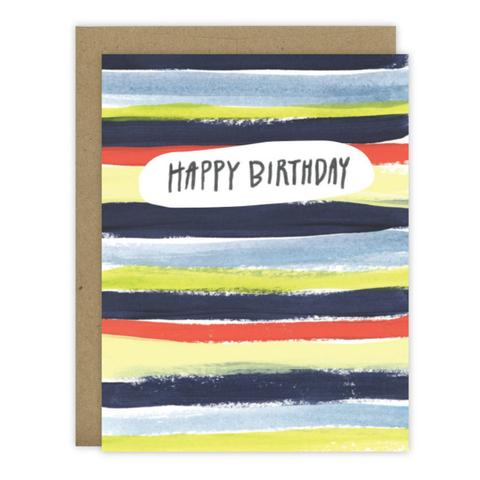 Birthday Stripes Greeting Card
