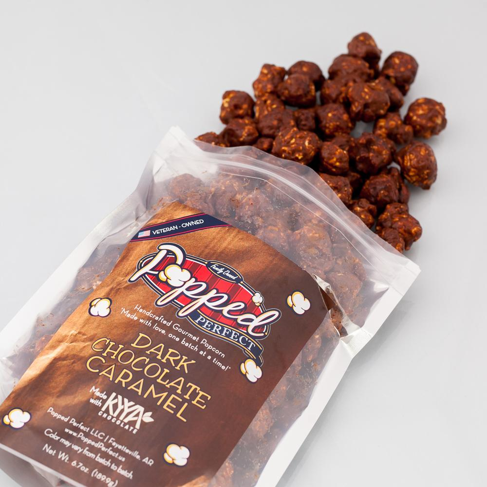 Popped Perfect KYYA Dark Chocolate Caramel Popcorn